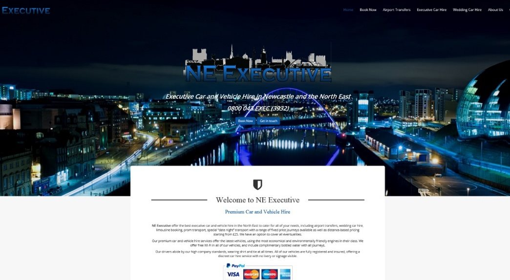 Taxi Hire Website Design in the UK
