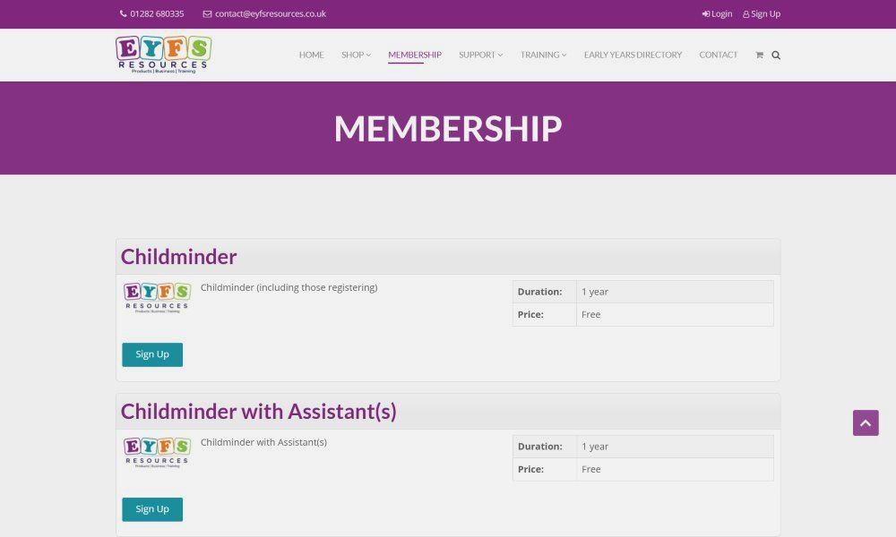 Website design in Carlisle with membership feature